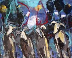 0 1 óleo sobre lienzo   130x162 cm 2003 (arteneoexpresionista) Tags: rando jorge animales neoexpresionismo