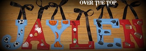 "SPORTS for Jaylen 6"" Custom Hand Painted Alphabet Letters"