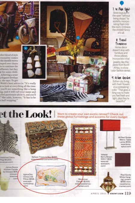 AphroChic Featured in Ebony Magazine April 2011