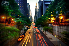 42nd Street, New York City (mudpig) Tags: nyc longexposure sunset ny newyork skyline night geotagged cityscape traffic dusk manhattan gothamist chryslerbuilding eastside hdr manhattanhenge 42ndstreet lighttrail tudorcity mudpig traffictrail stevekelley