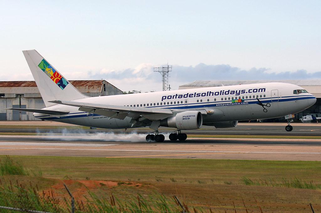 Portal Del Sol Holidays / Air Transport International (ATI) / Boeing 767-2J6/ER / N712AX at BQN