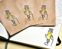 Paper bags with Mr peanut