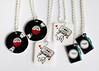 For Paper Crane (SOMETHiNG MONUMENTAL) Tags: camera hearts nikon handmade vinyl jewelry mixtape diana record necklaces shrinkplastic d60 somethingmonumental mandycrandell papercranegalleryandstudio