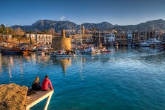 Love in Girne,North Cyprus (Nejdet Duzen) Tags: trip travel sea vacation holiday reflection love harbour deniz liman ak girne tatil yansma northcyprus kyrenia kbrs seyahat kktc kuzeykbrstrkcumhuriyeti saariysqualitypictures mygearandme