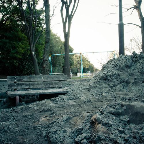 Sunken Bench in Mihama 3 Chome, Urayasu 2011