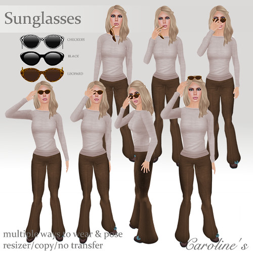 Caroline's Sunglasses Poses