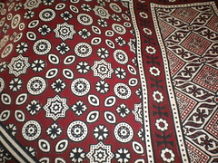 Ajrak (Batool Nasir) Tags: pink pakistan red orange handicraft craft editorial sindh artisan allrightsreserved ajrak bhitshah ©batoolnasir