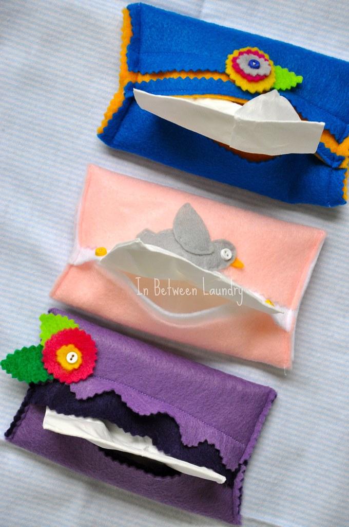 felt tissue holders