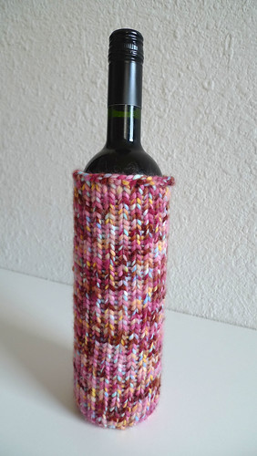 loom knit wine bottle cozy