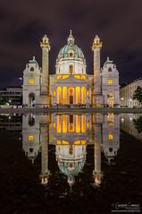 Karlskirche - Vienna (Giuseppe Cammino) Tags: 2016 5d 5dmarkiii austria canon canoneos5d canoneos5dmarkiii ef1740mmf4lusm eos europe giuseppecammino karlskirche vienna baroque church dome ef wien at