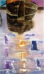 Venice tell... (l*aura**) Tags: watercolor acquerello water acqua venezia venice orange arancio citta city veneto