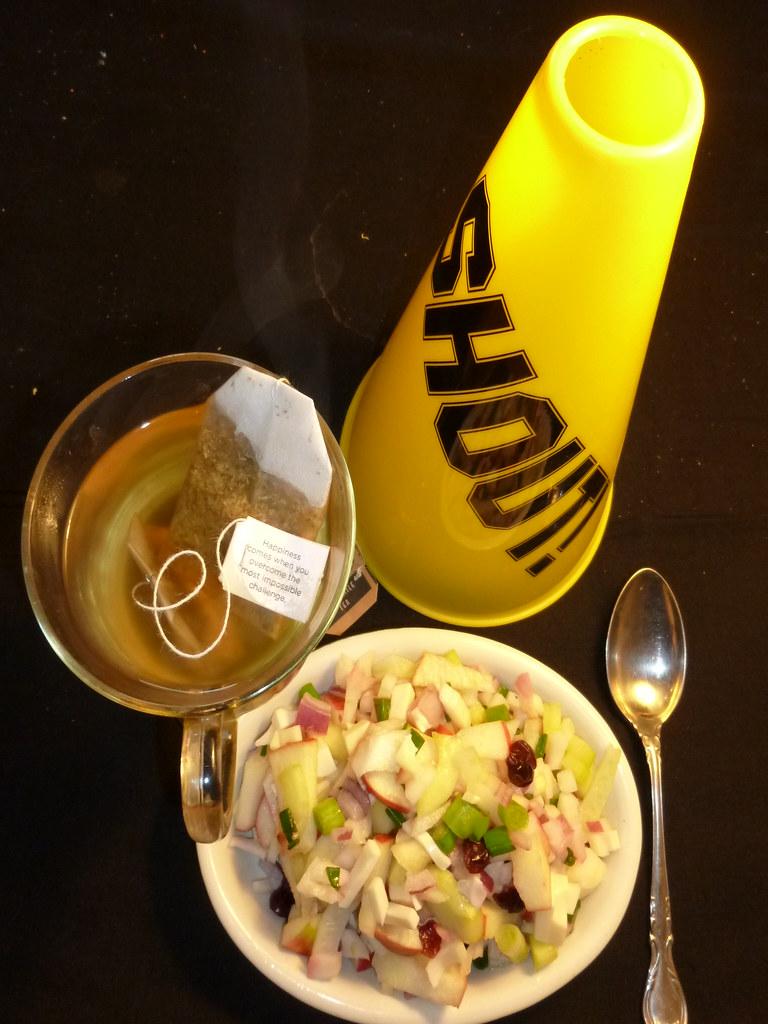 Negative Calorie Salad, Chamomile Tea