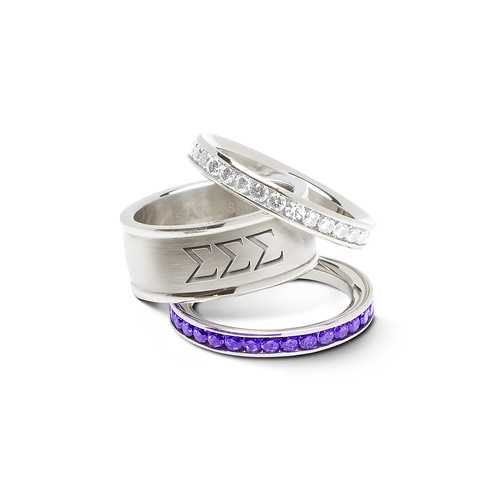 Tri Sigma stacked rings