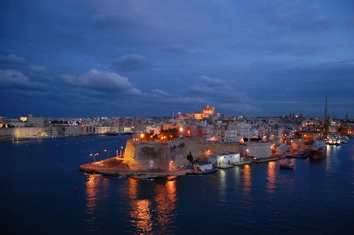 Valletta, Malta at night
