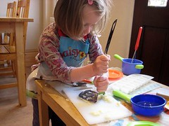 messy play with potatoes
