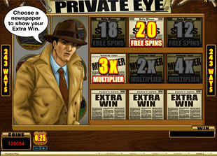 free Private Eye free spins