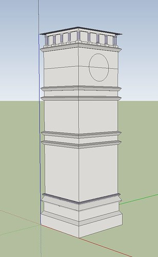 Clevedon Clocktower Google SketchUp Drawing Work In Progress