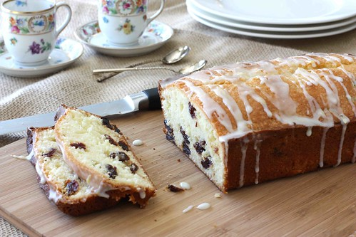 Glazed Lemon & Dried Cherry Quick Bread LS