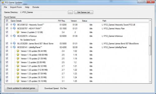 PS3 Game Updater - Scaricare gli update dei giochi PS3 da PC