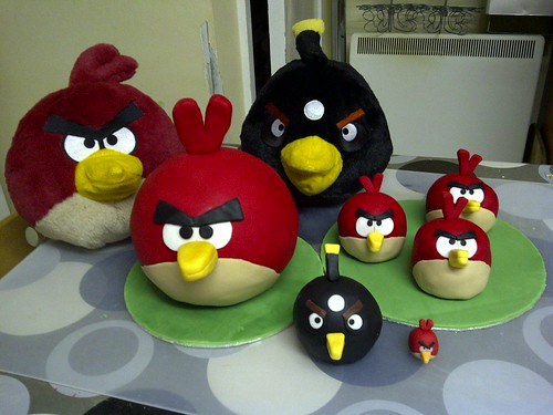 All #angrybird cakes !