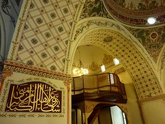 Interior of the mosque in Plovdiv (Frans.Sellies) Tags: mosque bulgaria mosquee mezquita plovdiv bulgarie mesquita moskee bulgarije bulgarien moschee bulharsko bulgaristan             p1280479