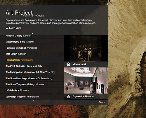 Screen shot: Google Art Project site