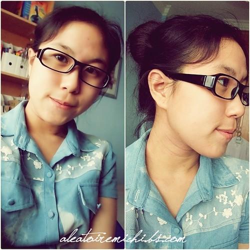 Denim Shirt & Glasses.