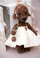 Anna (pudra studio) Tags: bear vintage stuffed doll artist teddy handmade craft gift teddybear packaging pudrastudio