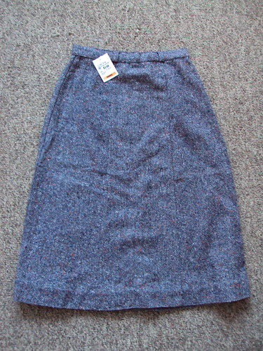Vintage Tweed A-lined Skirt