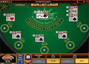 Multi-Hand Bonus Blackjack Win