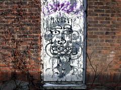 losing face (dmixo6) Tags: street light urban toronto art college dark graffiti queen spadina dugg dmixo6