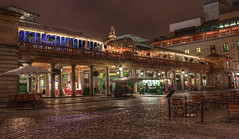 Covent Garden (TheFella) Tags: city uk longexposure greatbritain england urban house slr london night digital photoshop canon dark photography eos restaurant photo high lowlight opera europe darkness dynamic unitedkingdom capital royal nighttime photograph processing slowshutter gb coventgarden piazza 1855mm dslr range conor royaloperahouse hdr highdynamicrange macneill postprocessing 500d photomatix thefella conormacneill