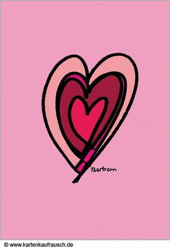 Valentinskarte: Das Herz Im Herz Für Romantiker