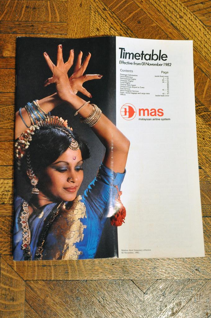 MAS Timetable 1982