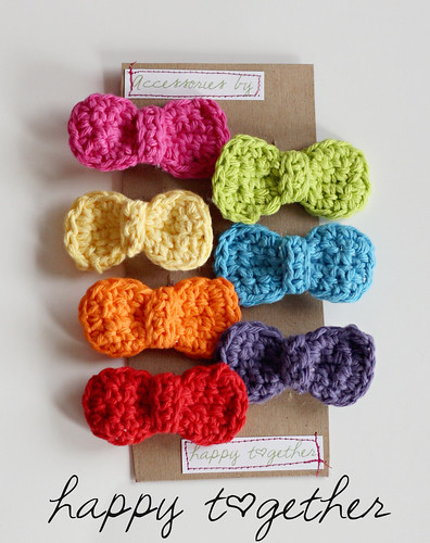Pretty Crocheted Hairbows