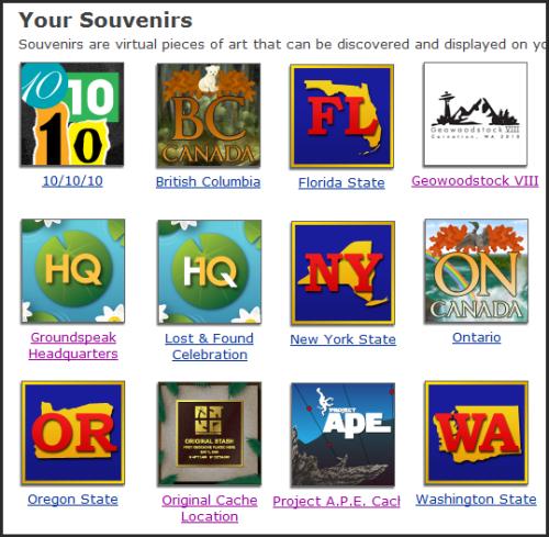 TeamVoyagr's Geocaching.com Souvenirs
