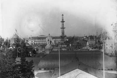 General view of Midwinter Fair, circa 1894. Midwinter Fair Glass Plate Negative Collection.