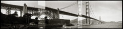 Golden Gate Bridge Argorama (efo) Tags: sanfrancisco bridge bw panorama icon multiframe argus c3 argorama