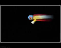 Superhero (peterphotographic) Tags: blur speed fly lego superman superhero minifigure savetheworldgetthegirl