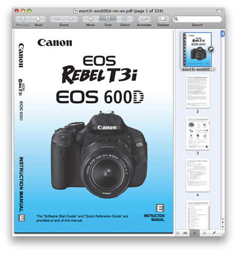 Canon T3i Manual