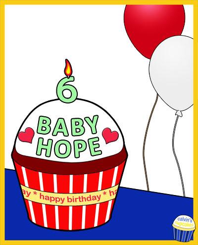 Baby Hope's 5th birthday cupcake