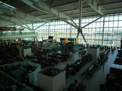 Looking Down on T5A Waiting Area