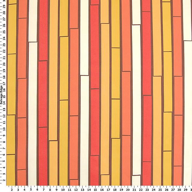 Orange-Bamboo Stripes