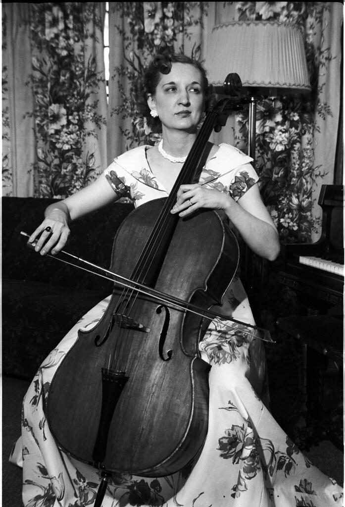 1941 Spencer - Frances Irene Spencer Ekwall on Cello