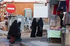 Women in Aqaba (varlamov) Tags: people market hijab jordan roadsign niqab aqaba khimar
