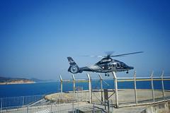 Helicopter (G.T .) Tags: hk film hongkong kodak 28mm helicopter 135 gr1s e100vs ricoh