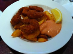 Prawn scampi and chips at Seadogs, Rose St, Edinburgh