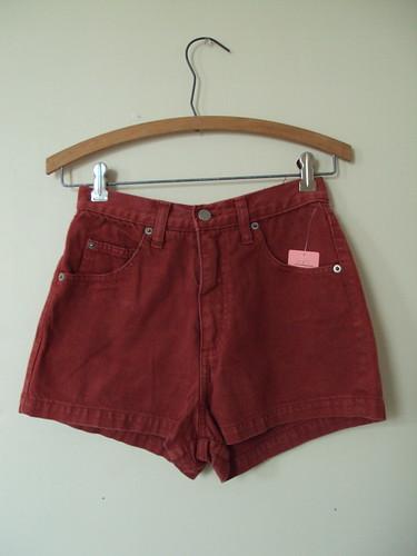 Rust Jean Shorts
