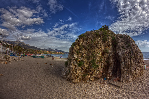 Playa de Burriana - Burriana beach (Nerja - Spain)