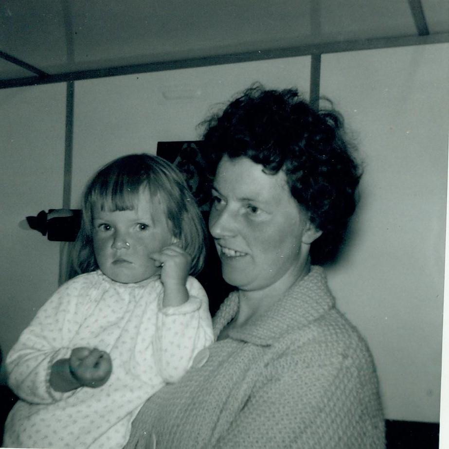 Valerie McCreath and Mum 1963